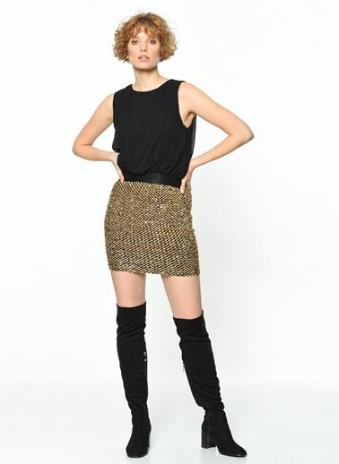 Girl In Mind Kolsuz Dar Mini Elbise Siyah